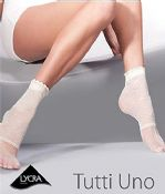 'Gabriella Hosiery' White Tuti Uno Patterned Ladies Socks  One Size (614)